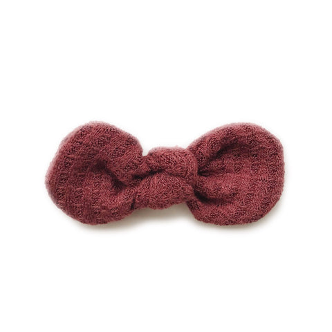 Knotted Bow Clip, Brick Waffle