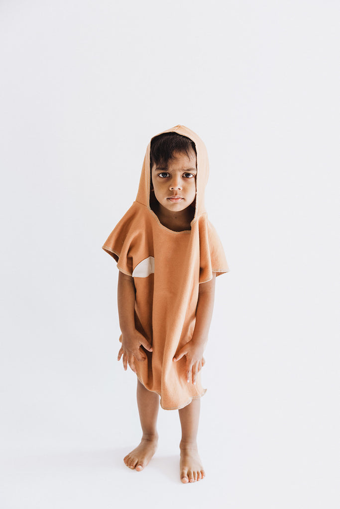 Organic Hooded Cover Up, Clay