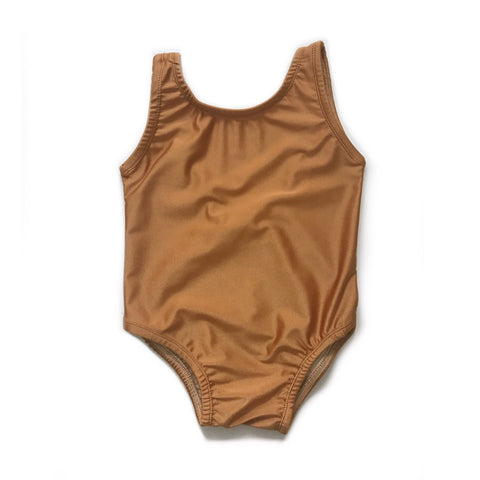 FINAL FEW! Scoop Back One Piece Swimsuit, Copper
