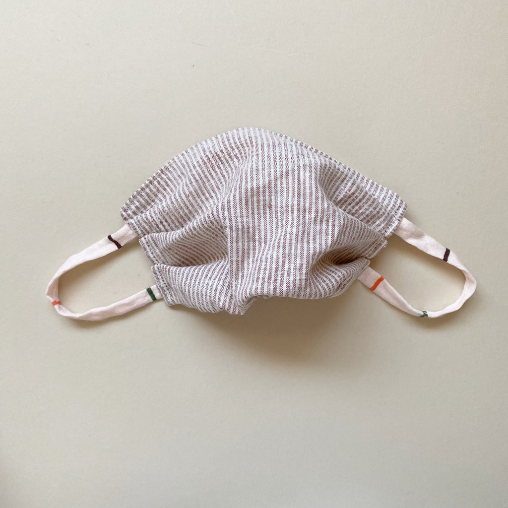 PREORDER Fabric Mask, Neutral Stripe - ALL SIZES