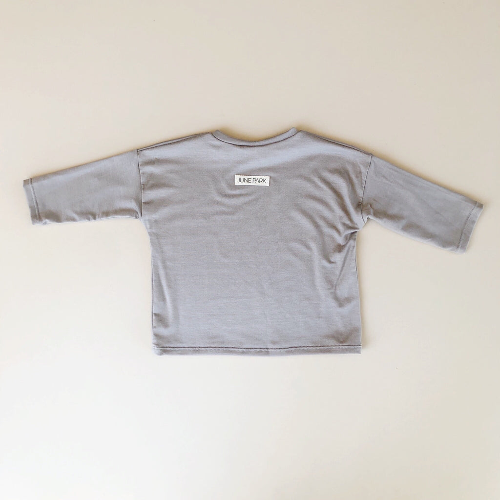 Boxy Tee, Long Sleeve, Cinder