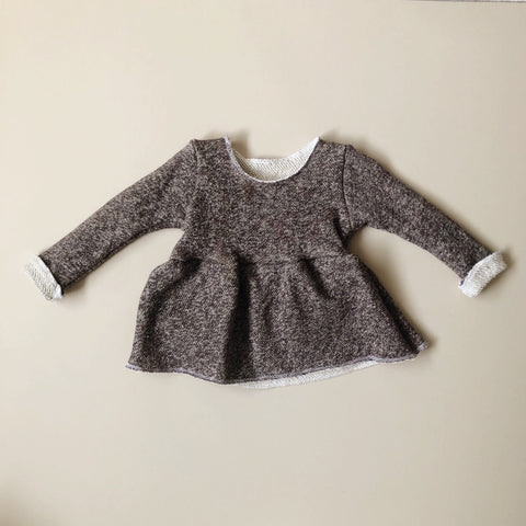 Cozy Peplum Sweater, Mocha