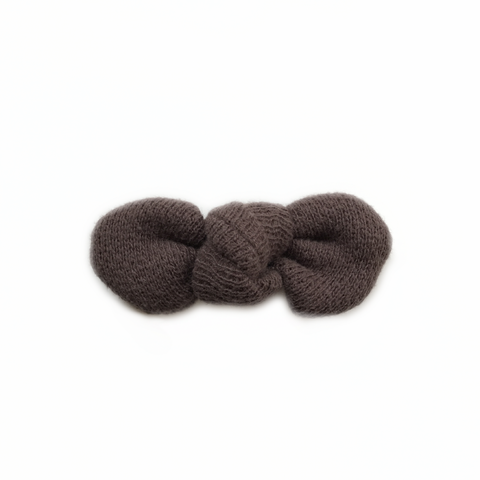 FINAL ONE! Knotted Bow Clip, Cozy Brown