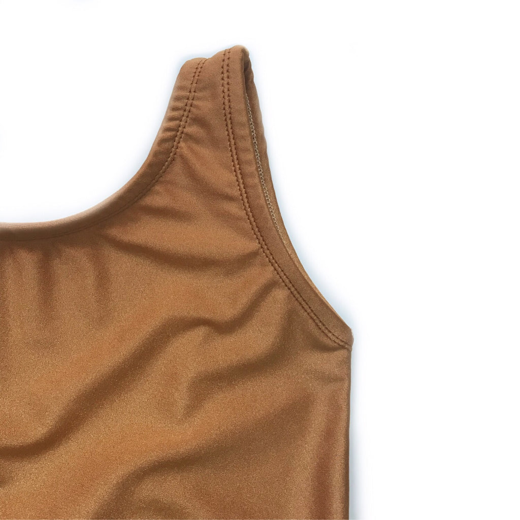 LAST ONE! Scoop Back One Piece Swimsuit, Copper
