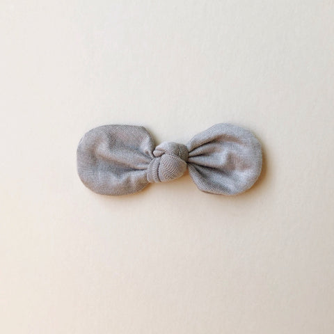 Knotted Bow Clip, Cinder