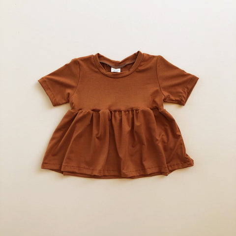 Peplum Top, Rust