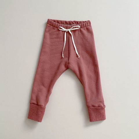 Organic Terry Leggings, Fig