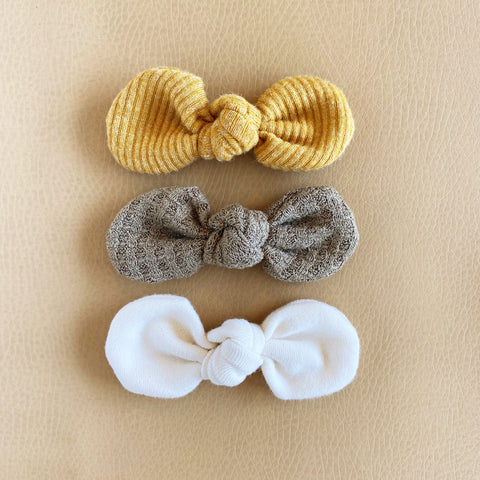 Knotted Bows, Set of 3, No. 8