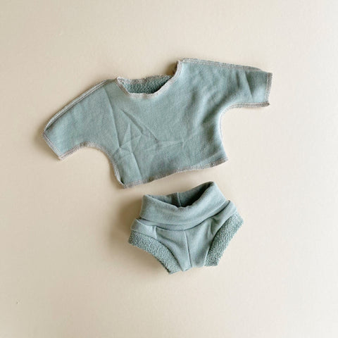 Doll: Organic French Terry Set, Sea
