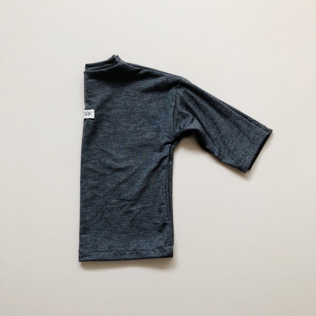 Boxy Tee, Long Sleeve, Charcoal