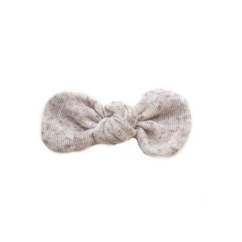 FINAL FEW! Knotted Bow Clip, Oatmeal Sweater