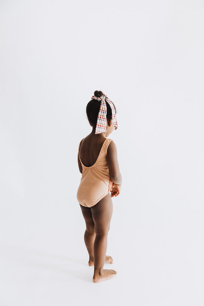 Scoop Back One Piece Swimsuit, Pink Sand