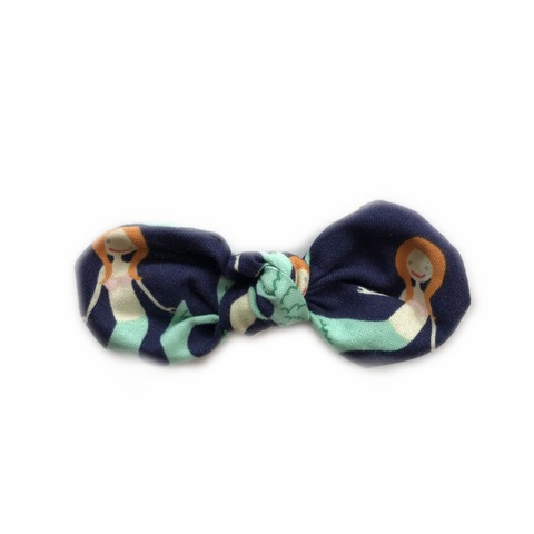 Knotted Bow Clip, Mermaid