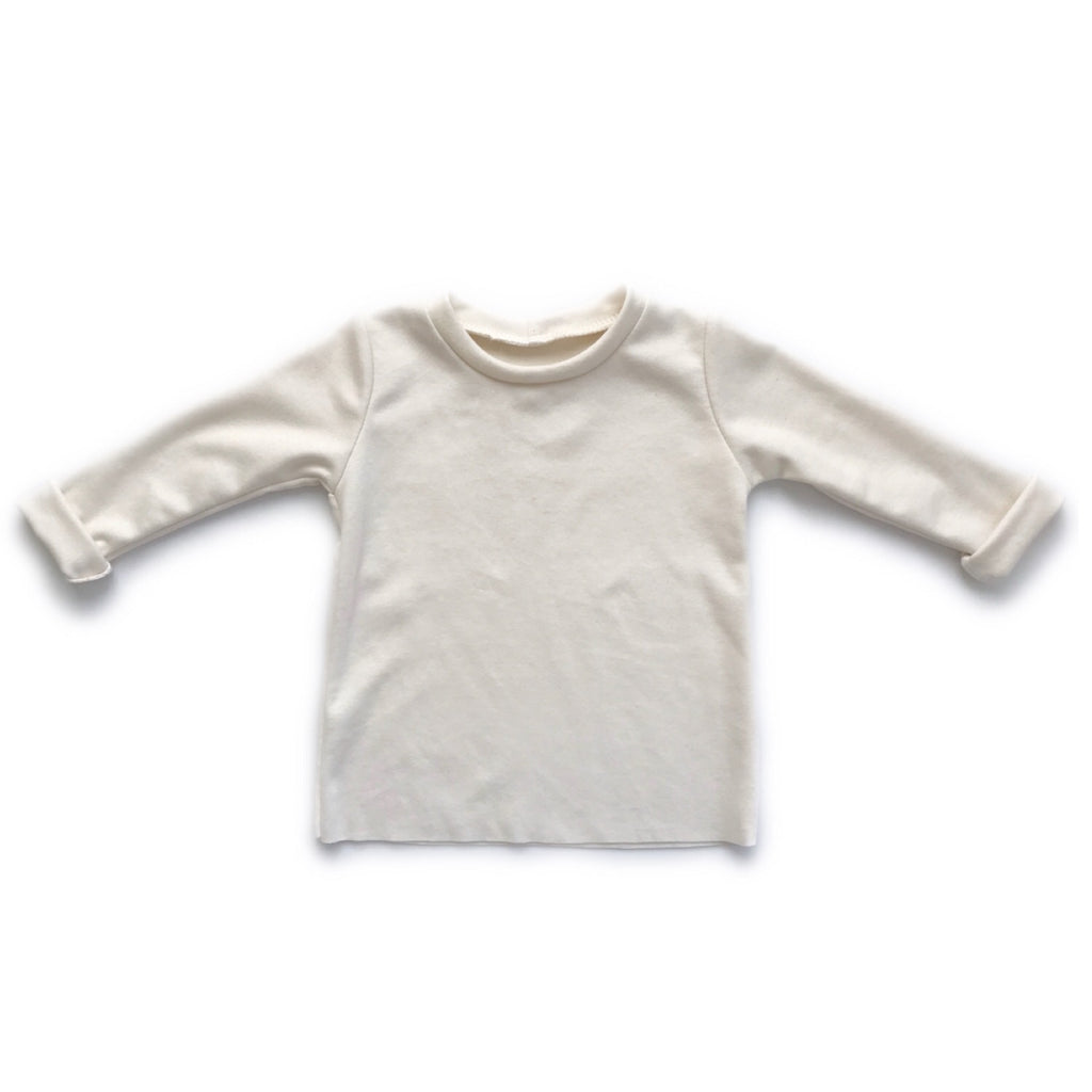 Organic Long Sleeve Basic Tee, Natural