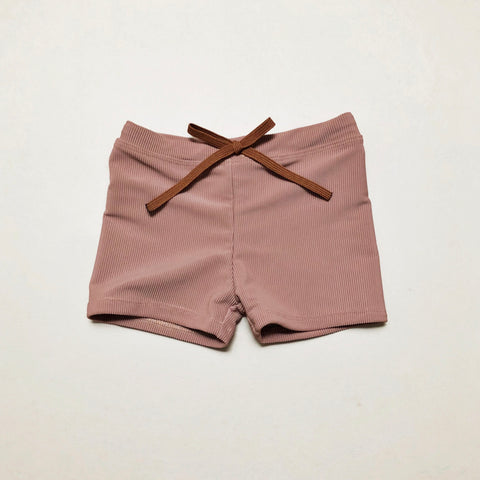 Euro Swim Shorts, Fawn Ribbed