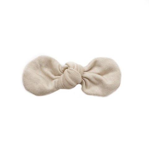 Knotted Bow Clip, Sand