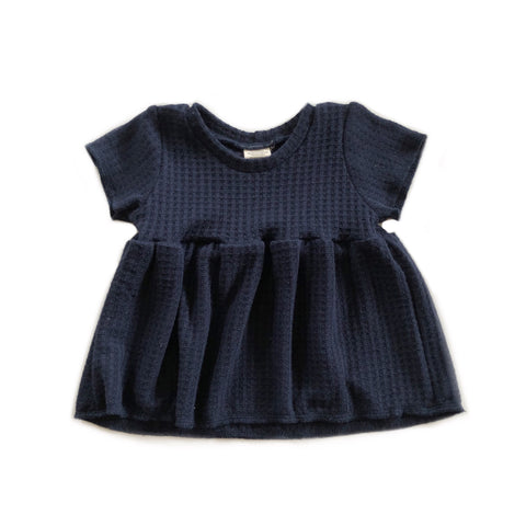 LAST ONE! Peplum, High Waist, Navy