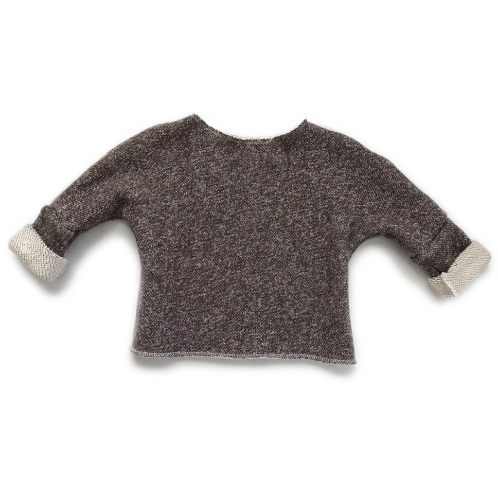 Oversize Boxy Sweater, Heathered Mocha