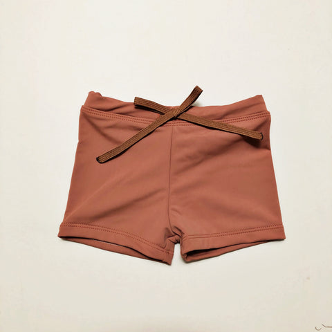 Euro Swim Shorts, Terra Cotta