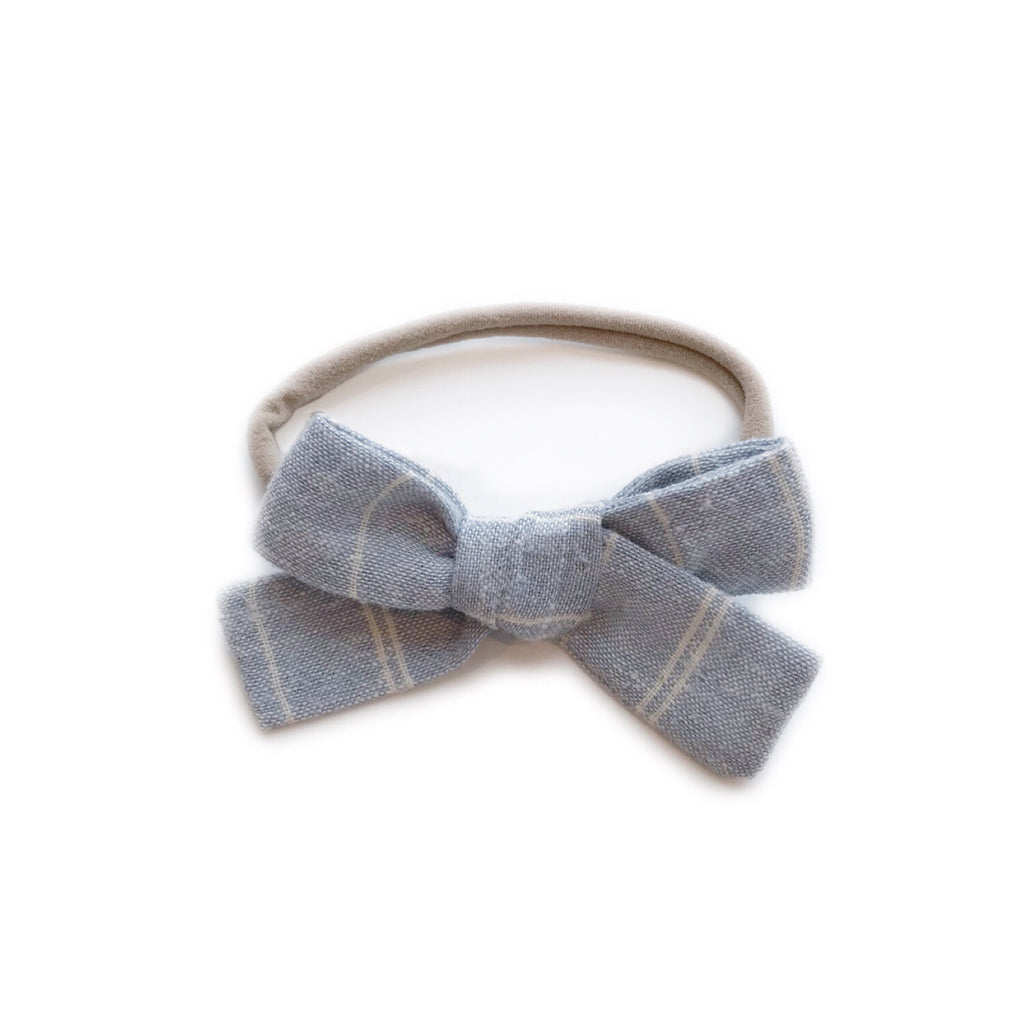 The Everyday Bow, Linen Chambray Stripe