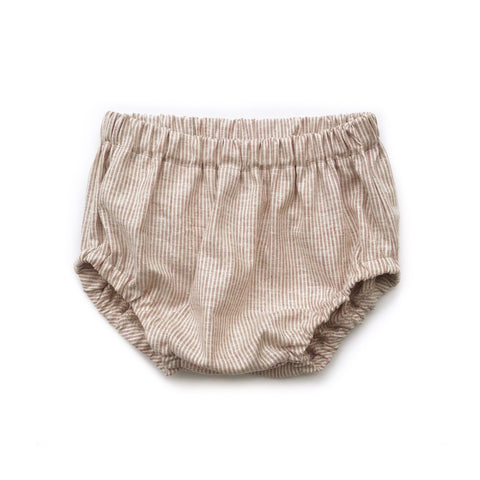 LAST PAIR, Bloomers, Wheat Stripe, 0-3 mo