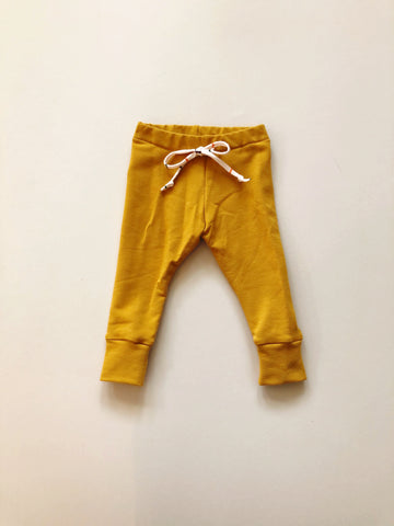 Organic Leggings, Mustard