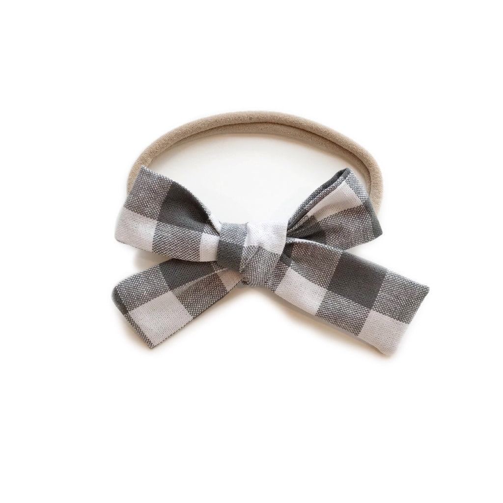 The Everyday Bow, Chalkboard Gingham