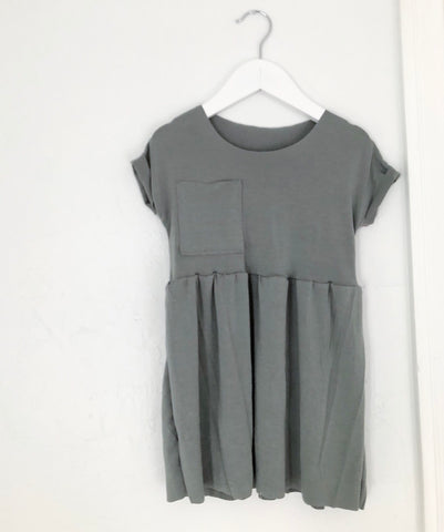 Peplum Pocket Dress, Eucalyptus