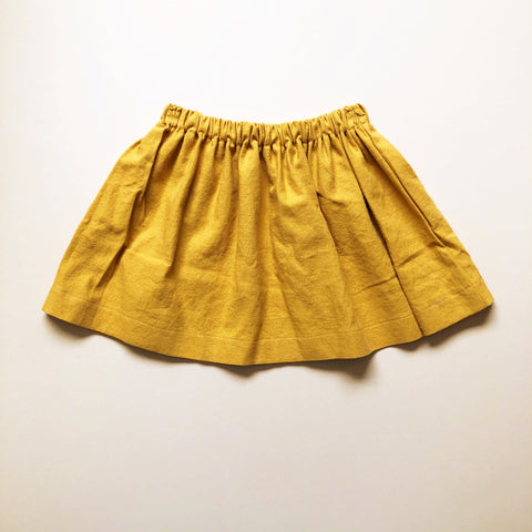 Gathered Skirt, Mustard