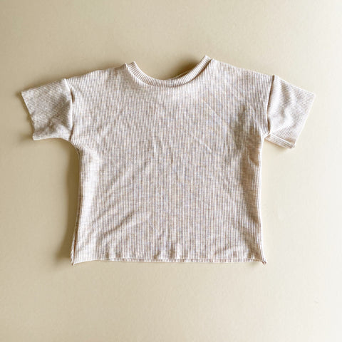 Raw Hem Boxy Tee, Thermal Oatmeal
