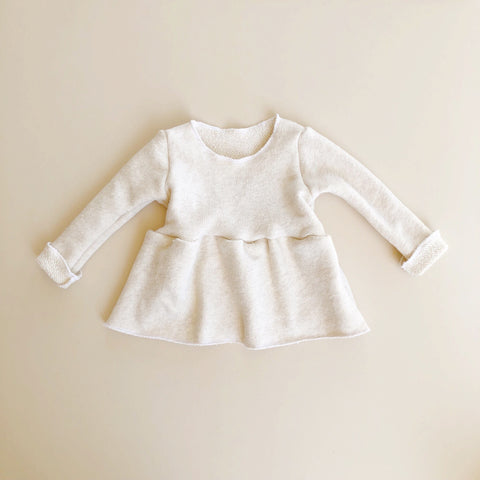 Cozy Peplum Sweater, Oatmeal
