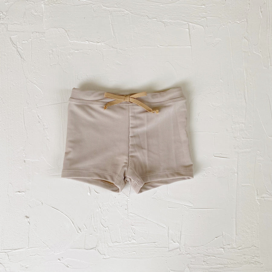 Euro Swim Shorts, Dune Ribbed