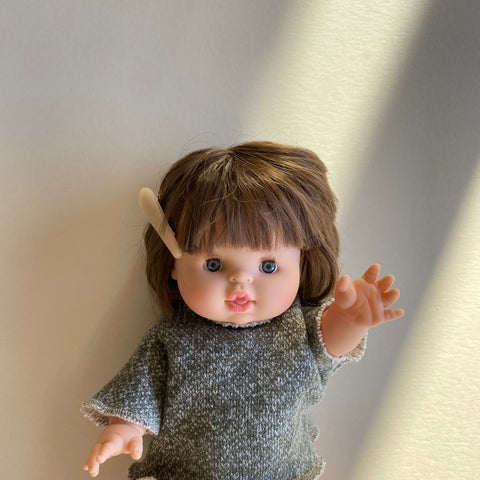 Doll: Short Sleeve Sweater, Forest