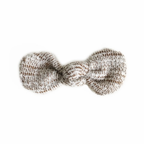 Knotted Bow Clip, Bark Sweater