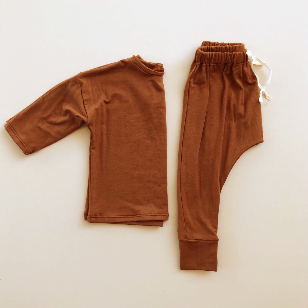 Boxy Tee, Long Sleeve, Rust