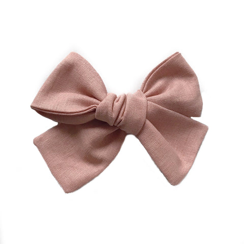 The Willow Bow, Blush Linen