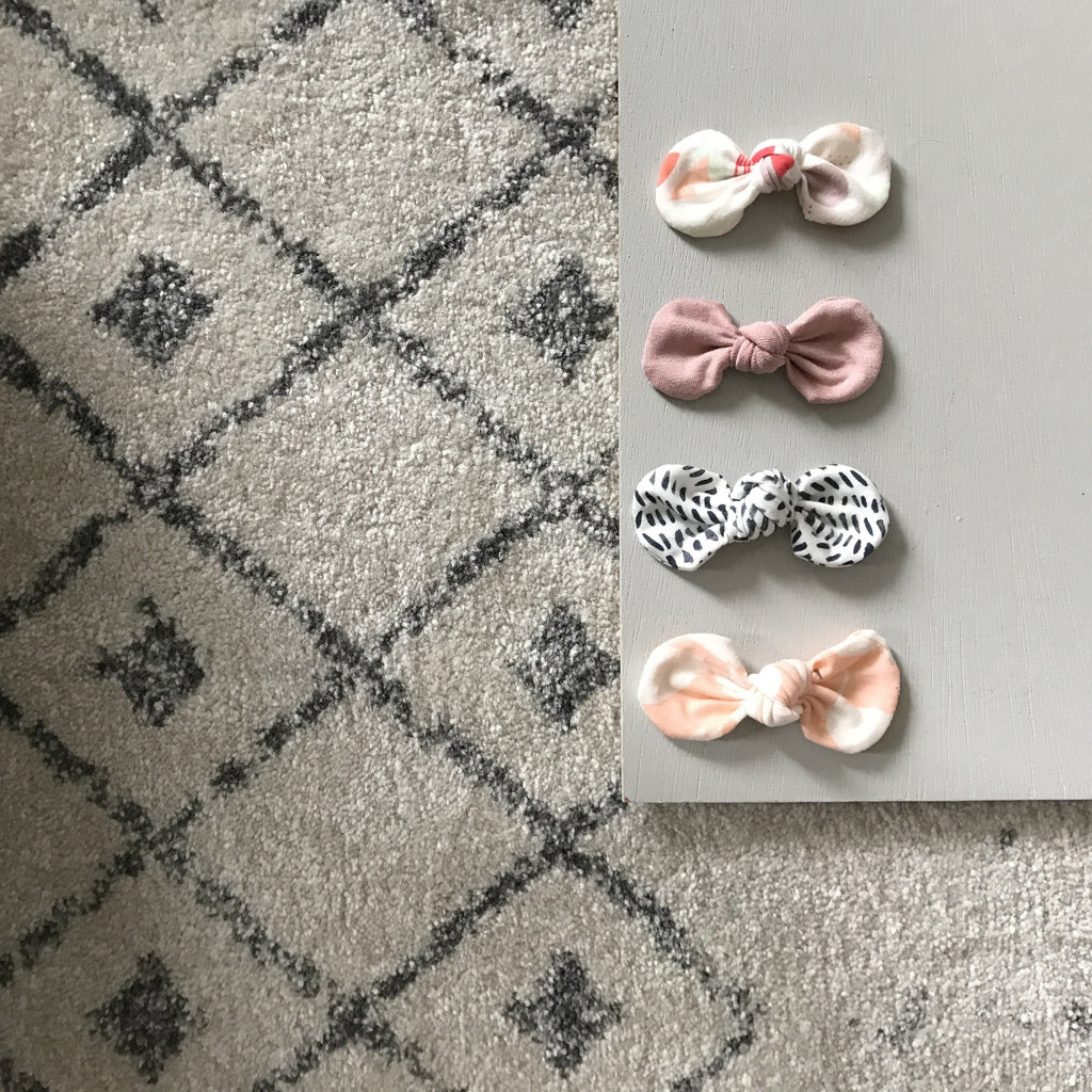 Knotted Bow Clip, Party Dots