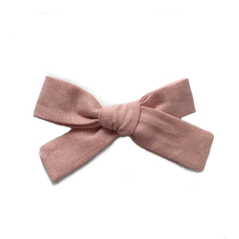 The Everyday Bow, Blush Linen