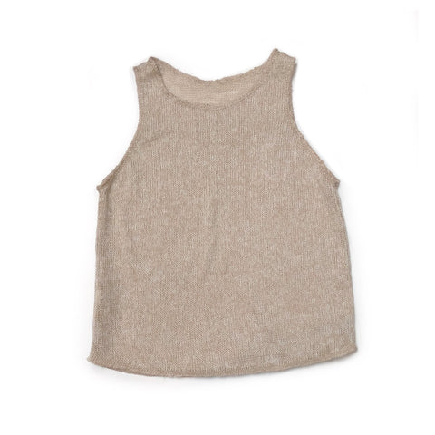 SEMI-SHEER Basic Tank/Cover Up, Natural Knit