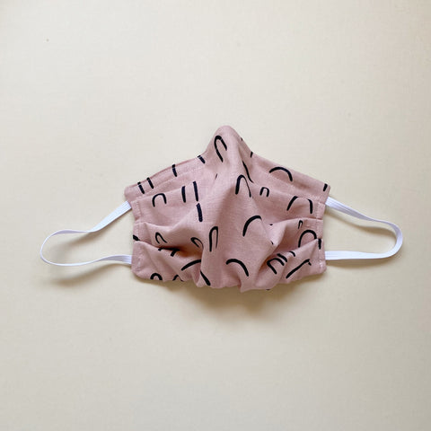 PREORDER Fabric Mask, Pink Arch - ALL SIZES