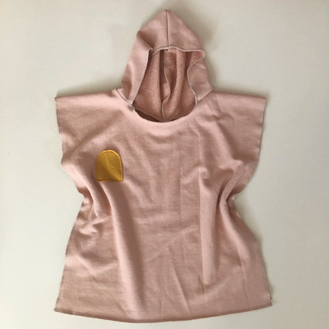 Organic Hooded Cover Up, Dusty Pink