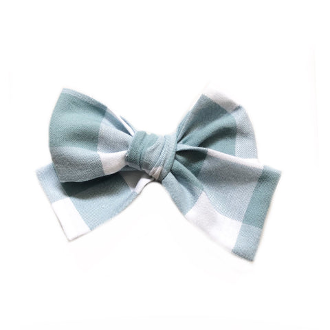 The Willow Bow, Mint Gingham