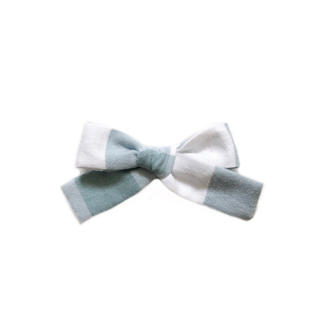 The Everyday Bow, Mint Gingham