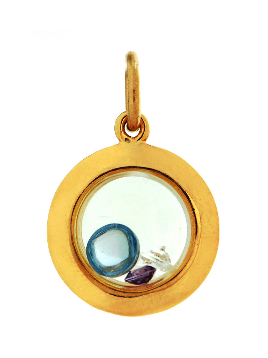 Floating Pendant in Gold Design by Alexandra Koumba