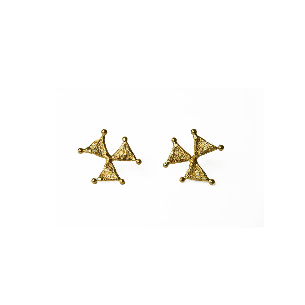 Tri earrings-gold-designed by alexandra koumba