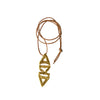 Art Deco Leather Pendant-gold-designed by alexandra koumba