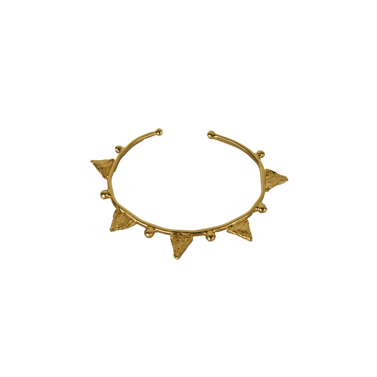Tri bangle bracelet-gold-designed by alexandra koumba