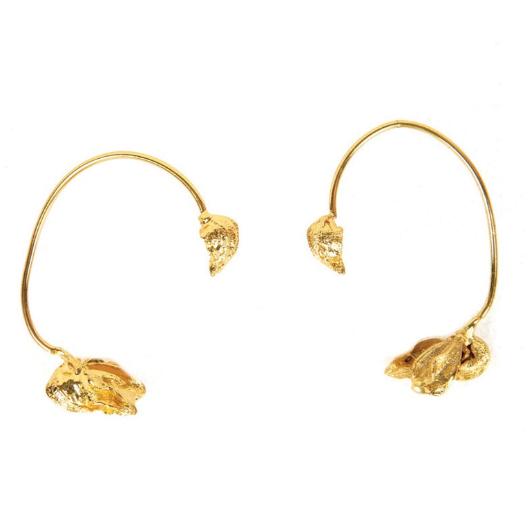 Karpoi Ear cuffs in Gold Design by Alexandra Koumba