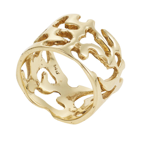 Lace Ring in gold Design by Alexandra Koumba