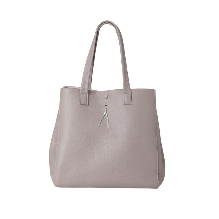 WB Shop Bag-Tortora/pink/silver-designed by alexandra koumba